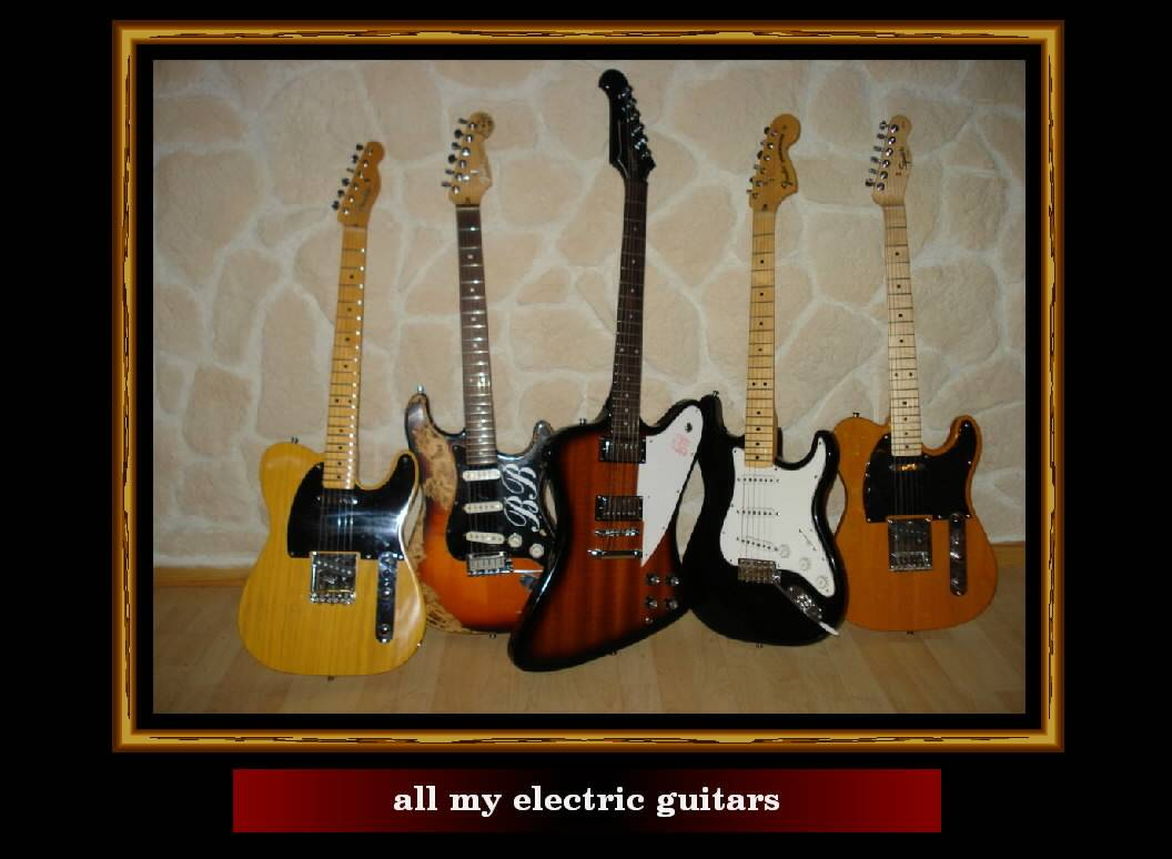 all my electric guitars